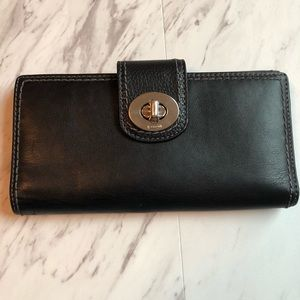 Coach Leather Toggle Clasp Wallet